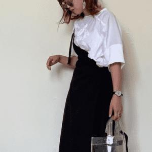 着回し力高めのアイテムはママの味方!黒のロングスカートを使った夏コーデ